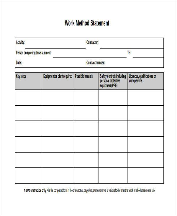 work method statement1