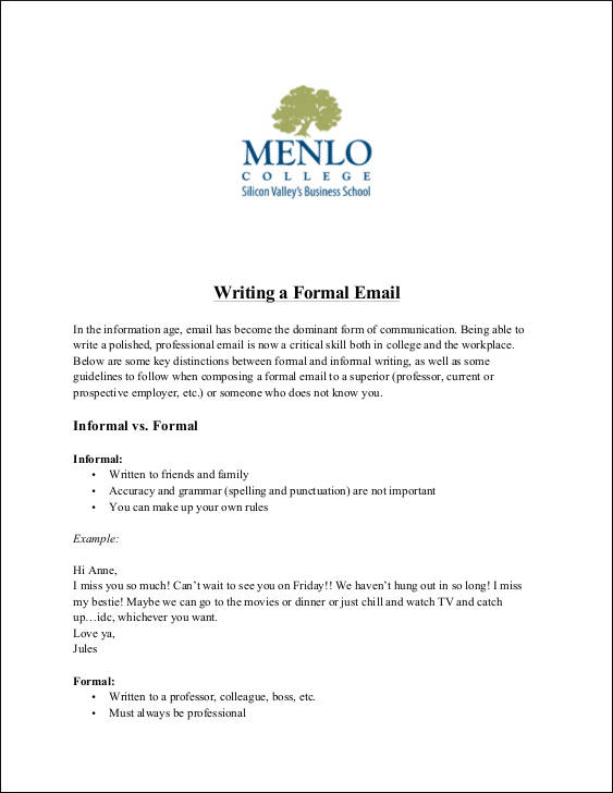 Sample Professional Email Simple Email Resignation Cover Letter