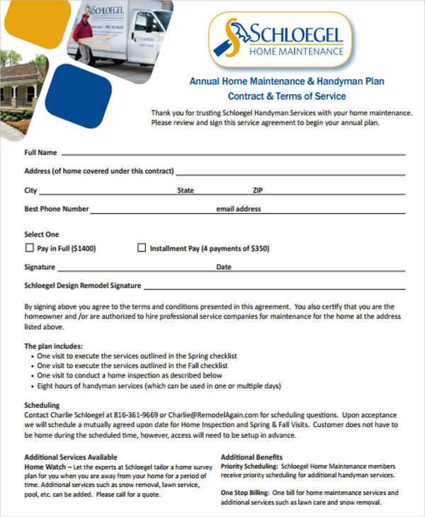 Service Maintenance Agreement Template