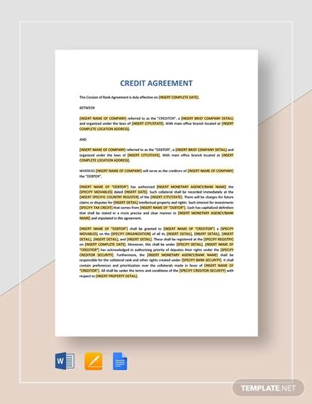 credit agreement1