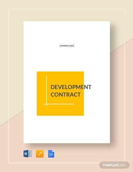 development contract1