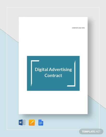 digital advertising contract