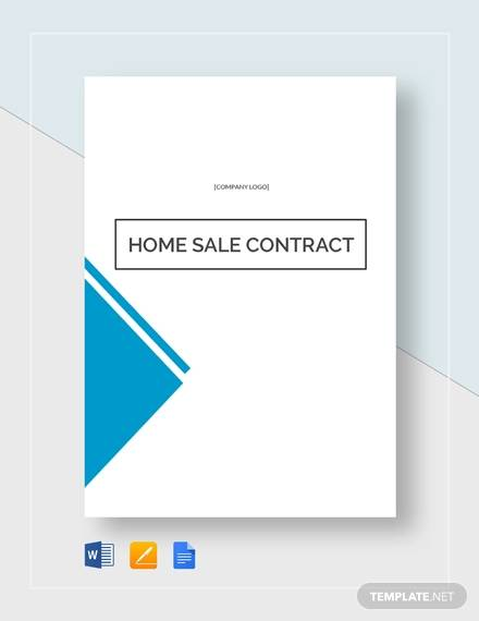 home sales contract