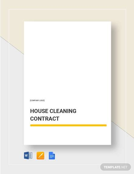 house cleaning contract4