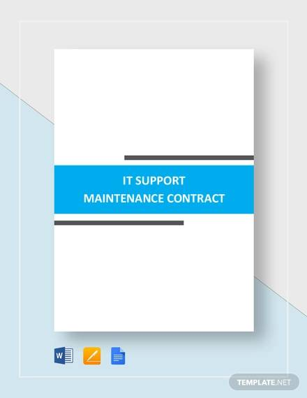 it support maintenance contract1