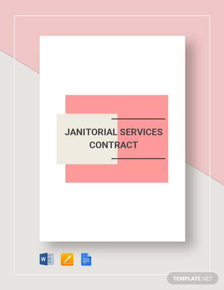 janitorial service contract