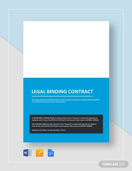 legal binding contract