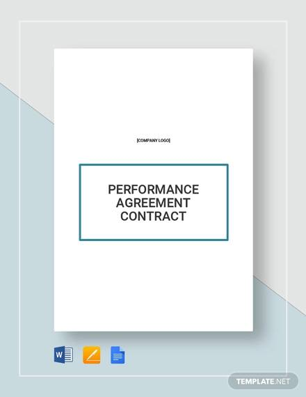 Performance Agreement Contract Sample 10 Examples In Word