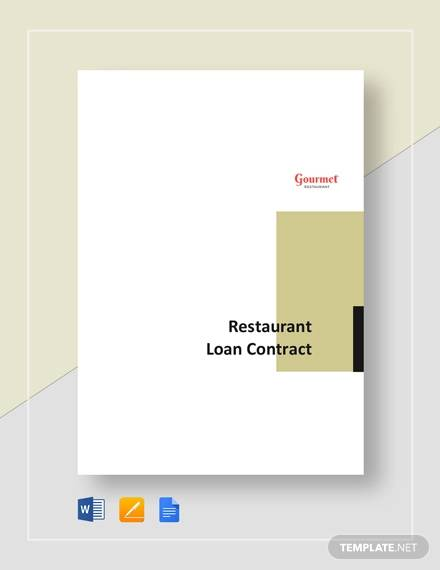 restaurant loan contract