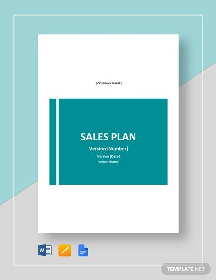 sample sales plan