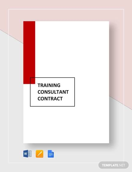 training consultant contract4