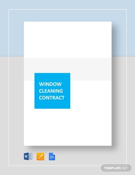 13 Sample Cleaning Contract Agreement Templates Word Docs