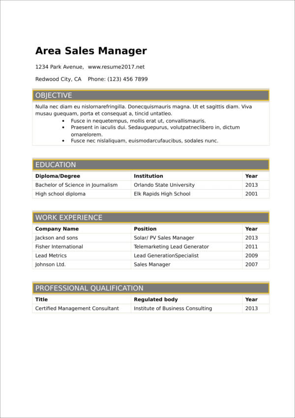 2017 resume template in word 1