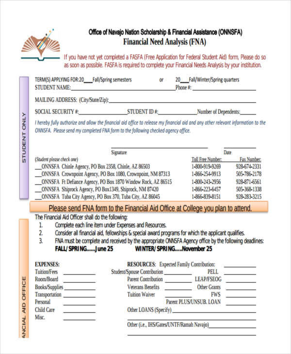 6 needs analysis templates examples in word pdf for Financial needs analysis template free