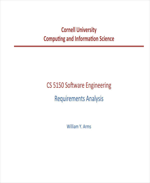 analysis for software engineering requirement