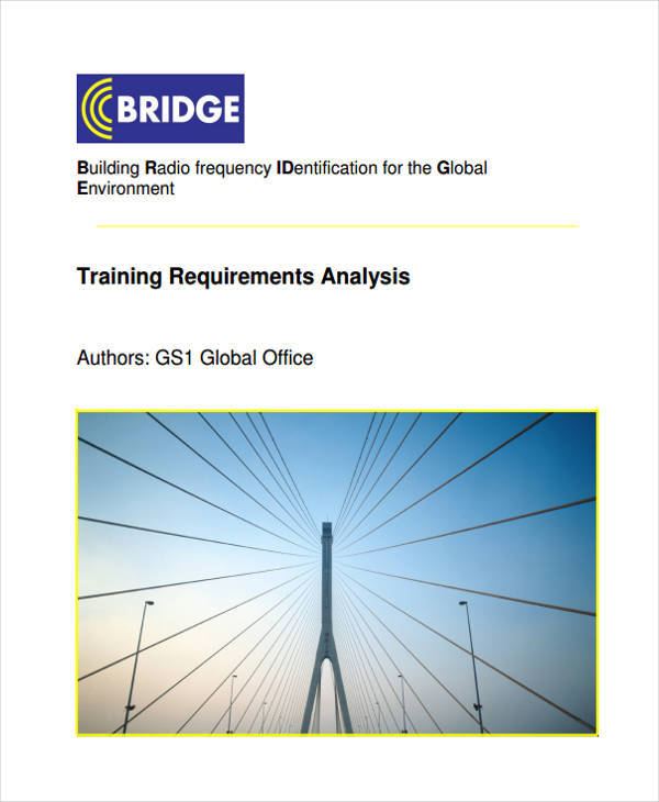 analysis for training requirement1