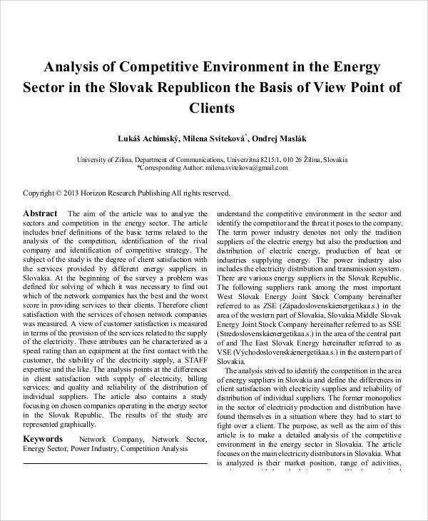 analysis of competitive environment
