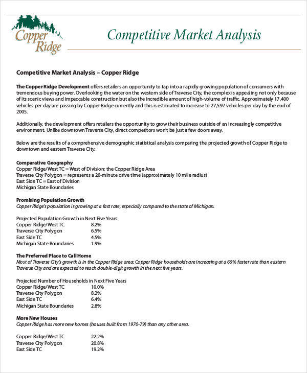 Competitive Analysis  Free Sample Example Format Download