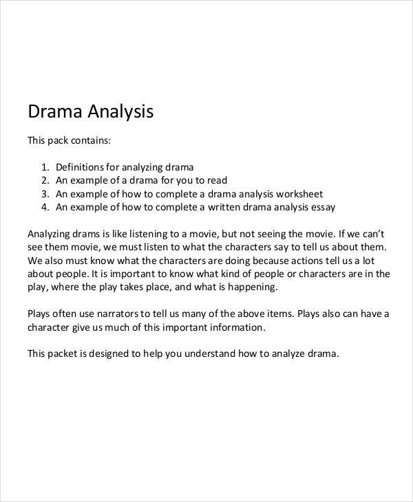 character analysis examples in word pdf analysis of drama character