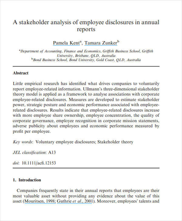 Stakeholder Analysis  Free Sample Example Format Download