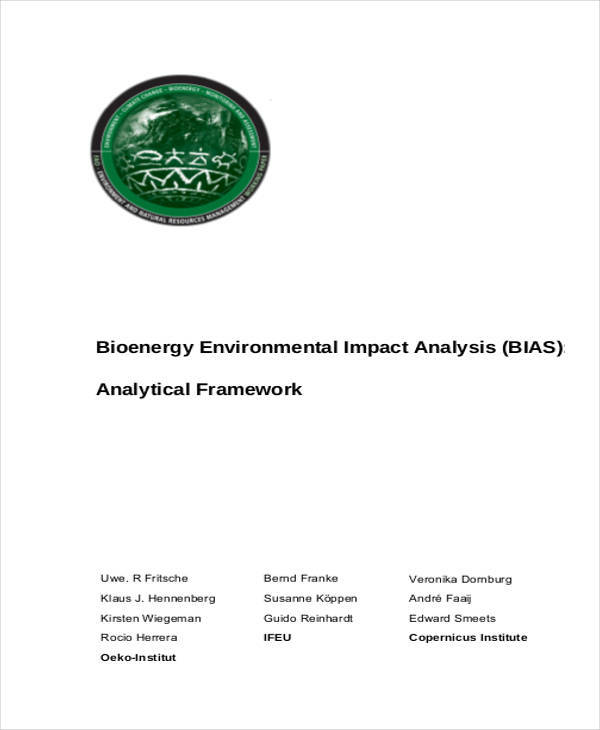 analysis of environmental impact1