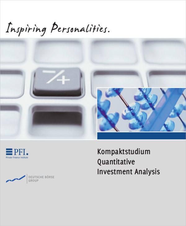 analysis of quantitative investment