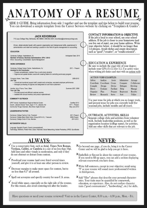Anatomy Of A Resume  Tips For Making A Resume