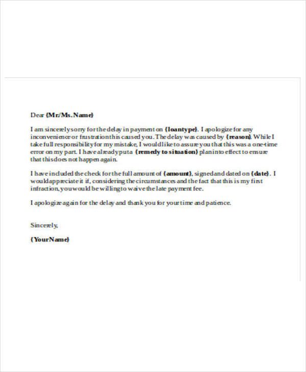 28 payment letter formats apology letter to client for late payment altavistaventures Image collections