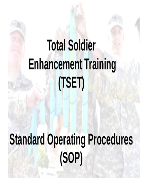 army training template