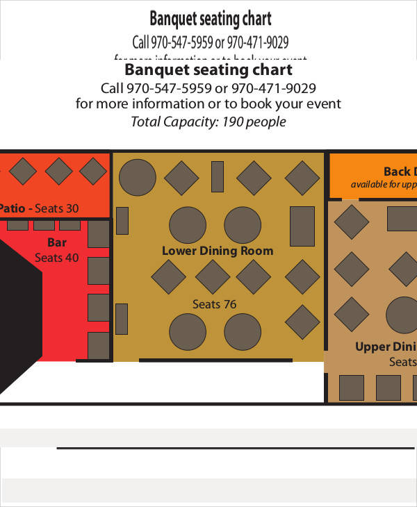 11 seating chart template free sample example format for Free restaurant seating chart template