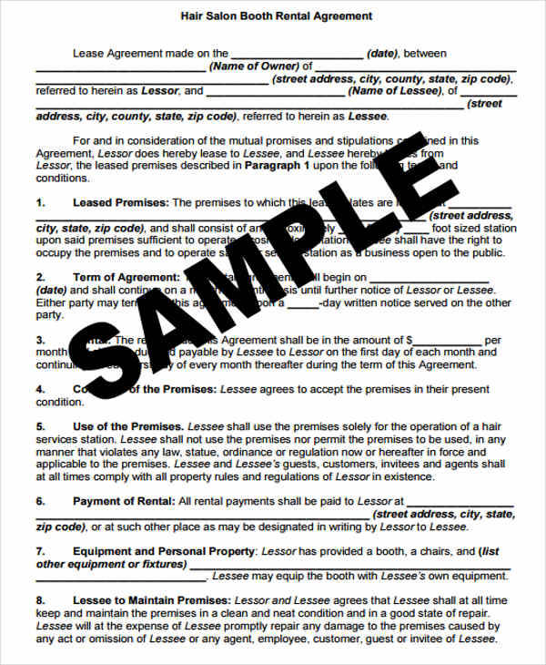 42 Lease Agreement Formats & Templates