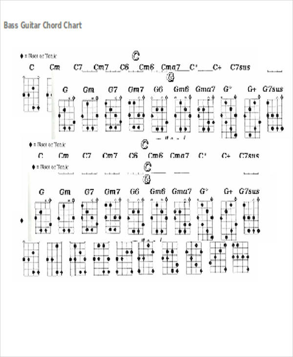 Chord Chart Templates  Examples In Word Pdf
