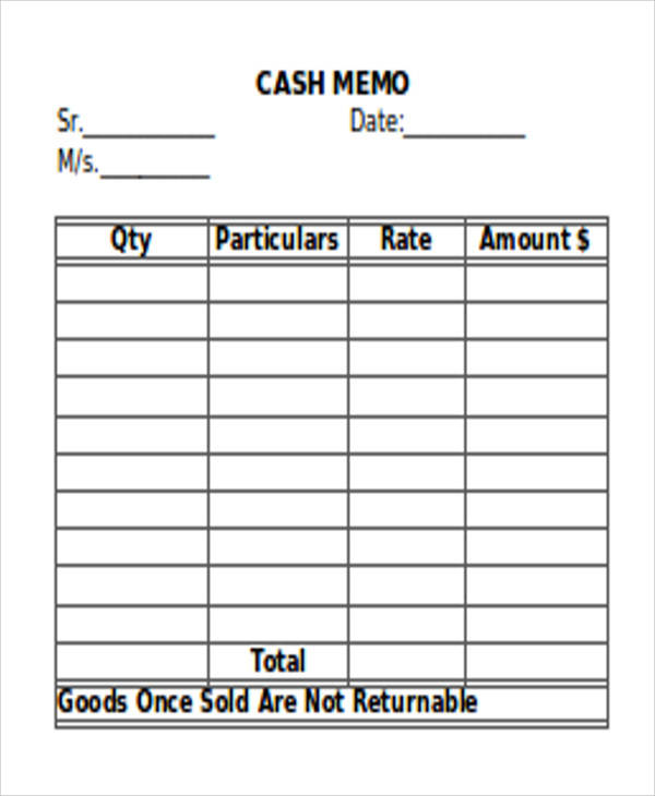 Blank Memos  Free Sample Example Format Download