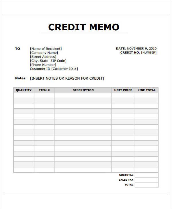 blank credit memo1
