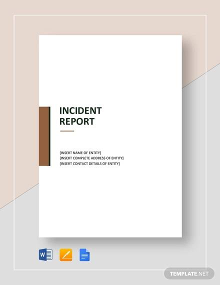 blank incident report