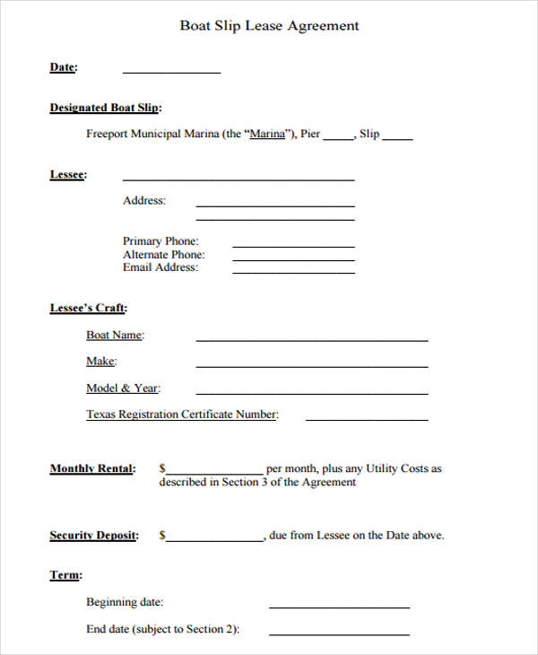 39 Lease Agreement Forms