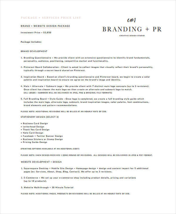 6+ Branding Quotation