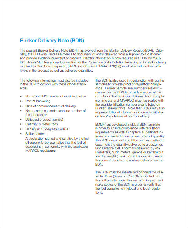 bunker delivery note2
