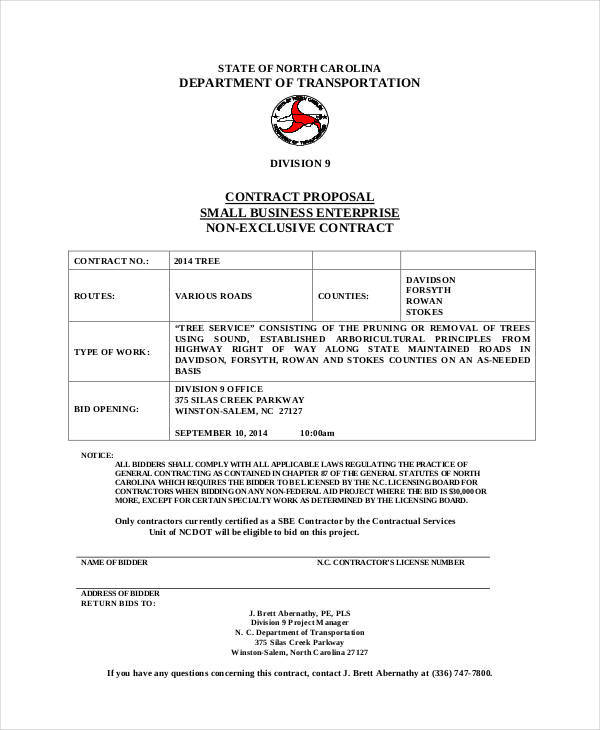 business contract proposal