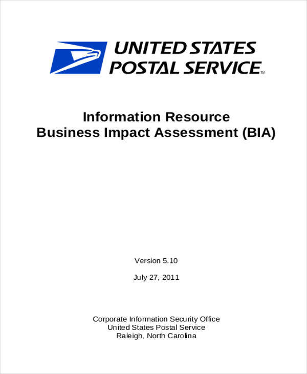 business impact assessment1