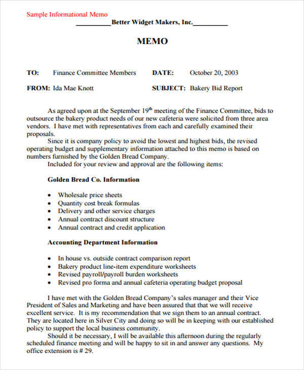 free 13  business memo templates in ms word