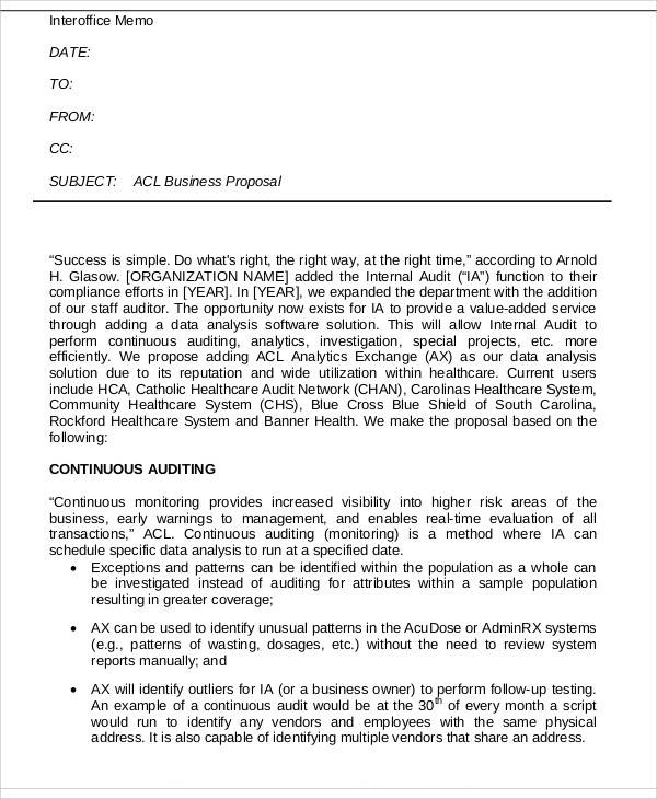 Sample Interoffice Memo Cv Cover Letter Formal Business Letter