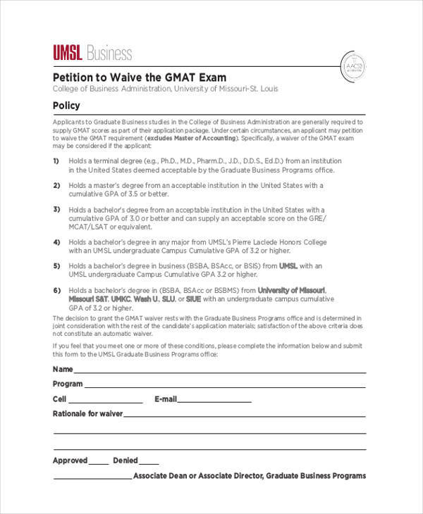 Business Petition  Free Sample Example Format Download