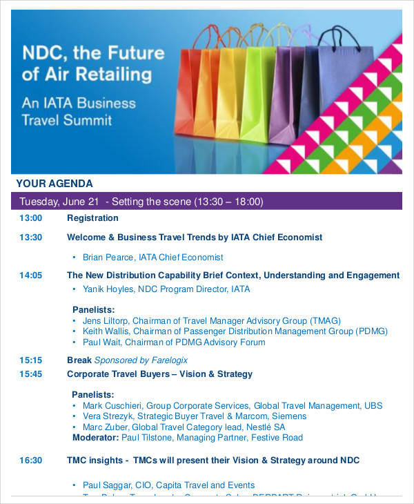 business travel agenda1
