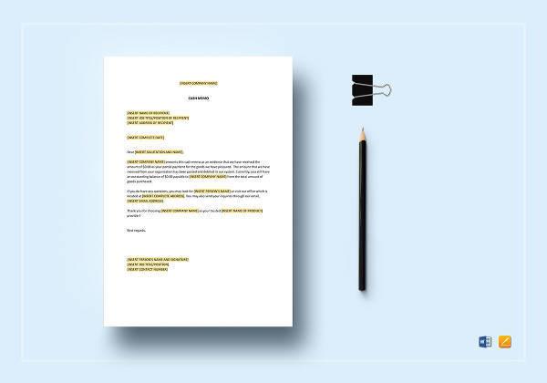 8 cash memo templates free sample example format download