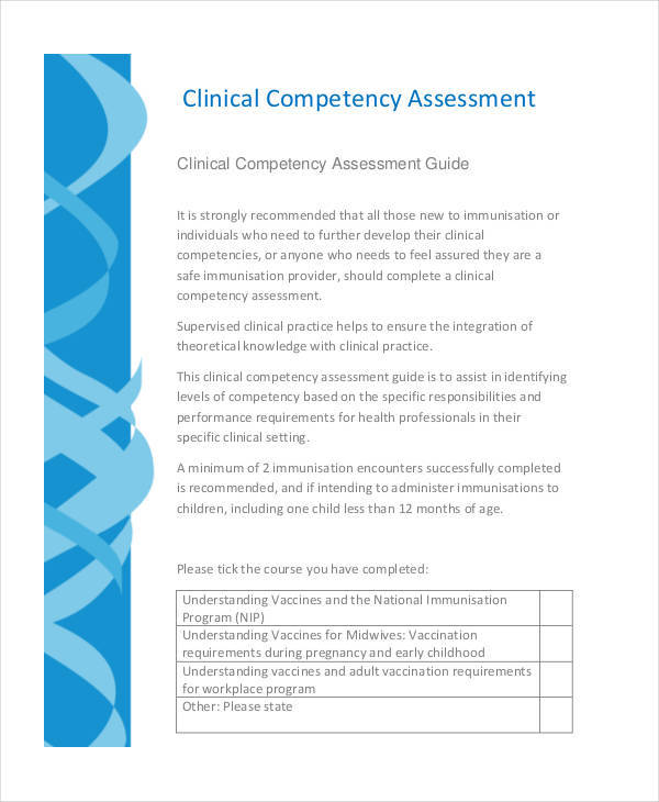 clinical competency assessment
