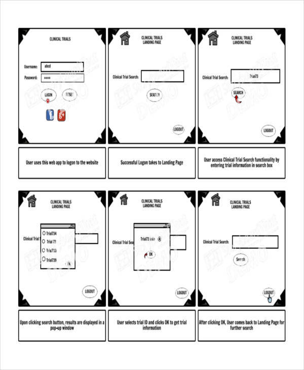 Website Storyboard Samples  Examples In Pdf