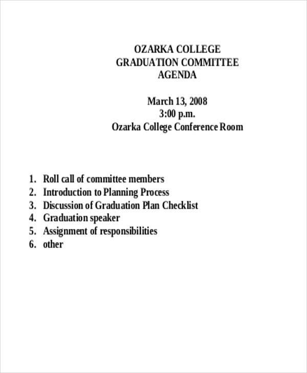 college graduation agenda1