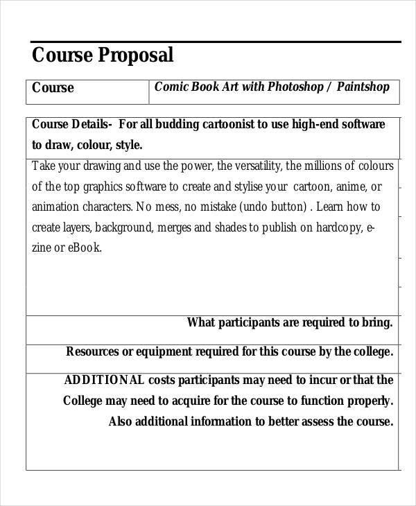 comic book proposal