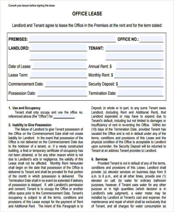 commercial office lease agreement4